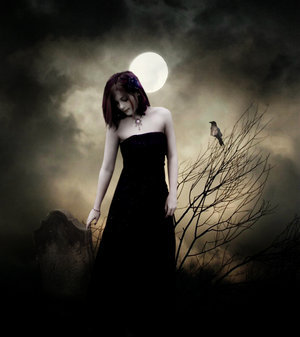 Ghotic lady with the moon