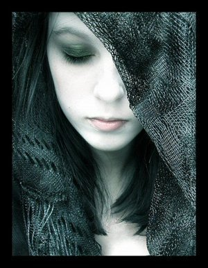 Gothic melancholy lady