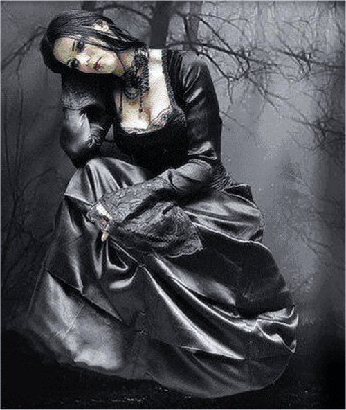 Ghotic sad lady