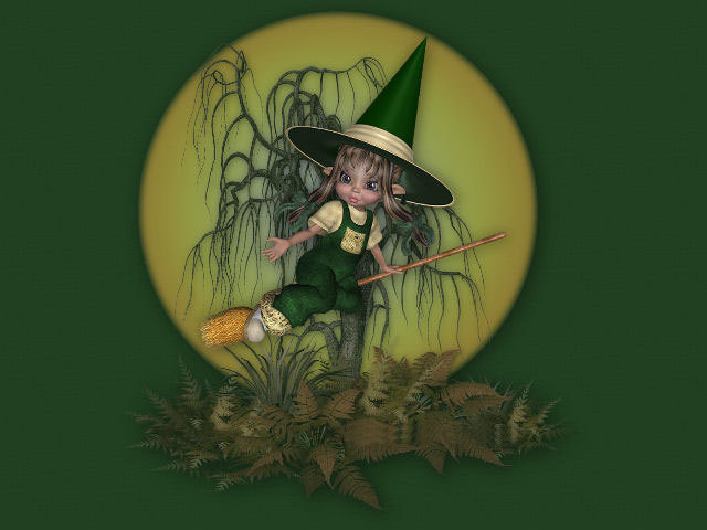 Green Baby Witch