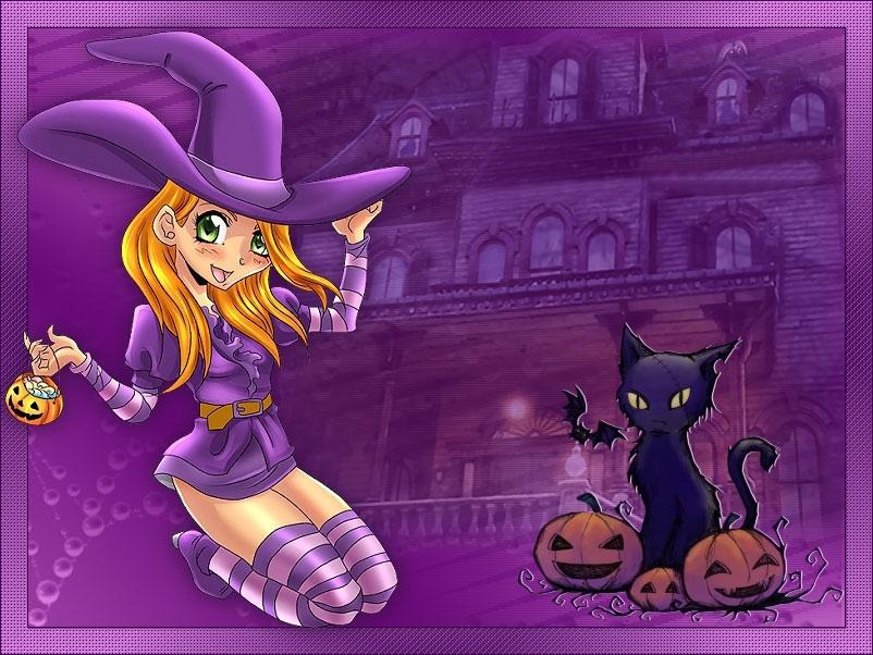 Purple Manga Halloween
