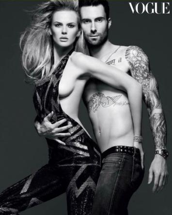 Adam Levine e fidanzata nudi su Vogue