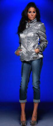 Piumino Argentato E Jeans Coconuda Collezione Inverno