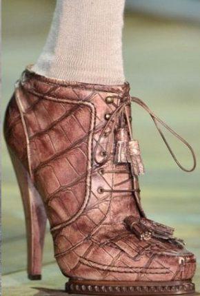 Scarpe Stringate Alte Inverno Roberto Cavalli