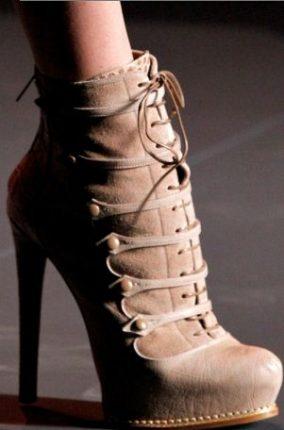 Stivaletto Stringato Con Tacco Inverno Christian Dior