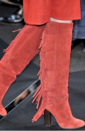 Stivali Inverno Con Frange Diane Von Furstenberg