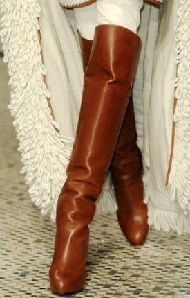 Tendenza Moda Stivali Inverno A Gamba Alta Alla Hermes