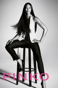 Pinko collezione abbigliamento moda donna primavera-estate 2012 con Naomi Campbell