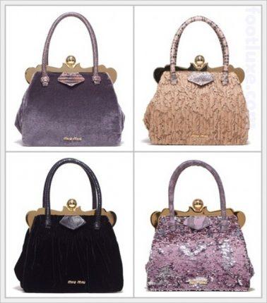 Romantiche borse di Miu Miu Primavera Estate 2012-2