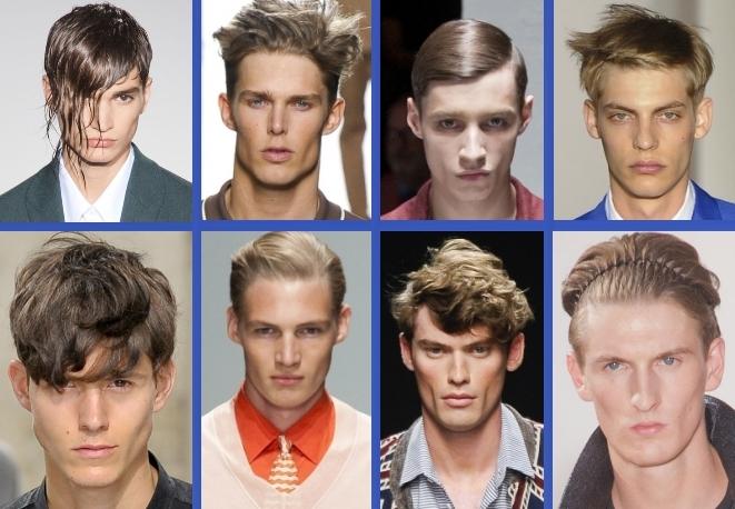 Uomo capelli dalle passerelle