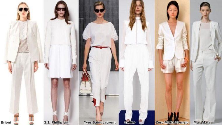 Bianco colore per la primavera estate  - Colori moda Trend Fashion