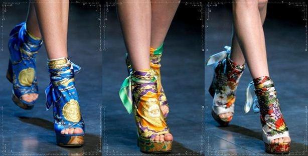 D  G collezione scarpe sandali zeppe primavera estate 2012 -3