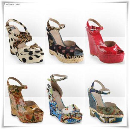 D  G collezione scarpe sandali zeppe primavera estate 2012