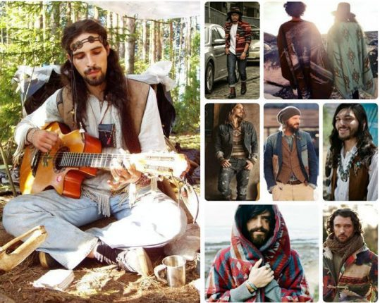 Stile hippie uomo