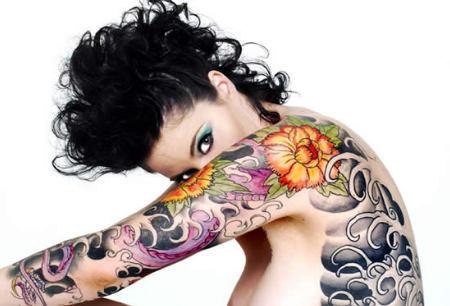 tatuaggi braccia fiori