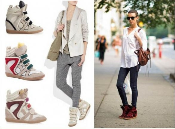 Isabel Marant sneakers con zeppa e mille look per portarle-1