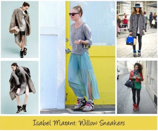 Isabel Marant sneakers con zeppa e mille look per portarle