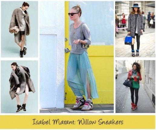 Isabel Marant sneakers con zeppa e mille look per portarle