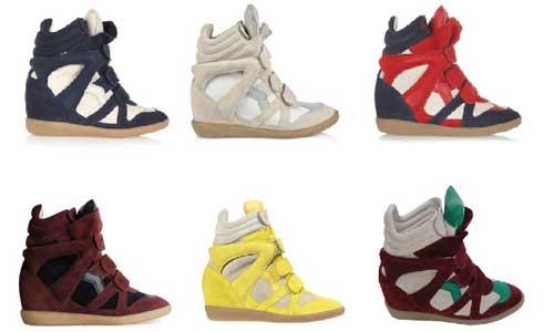 Isabel Marant sneakers con zeppa