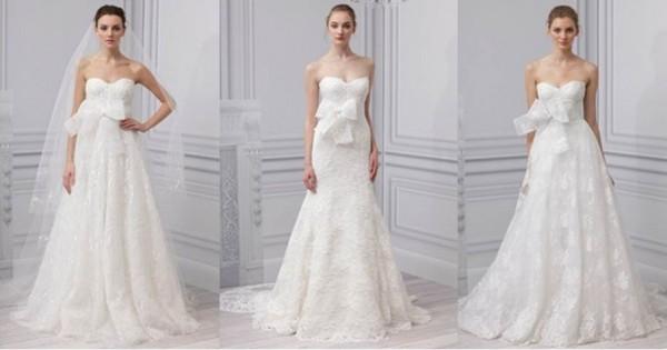 Monique lHuillier collezione abiti da sposa 2013-1