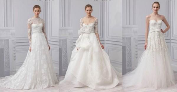 Monique lHuillier collezione abiti da sposa 2013-2