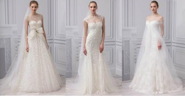 Monique lHuillier collezione abiti da sposa 2013-3