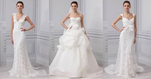 Monique lHuillier collezione abiti da sposa 2013-4