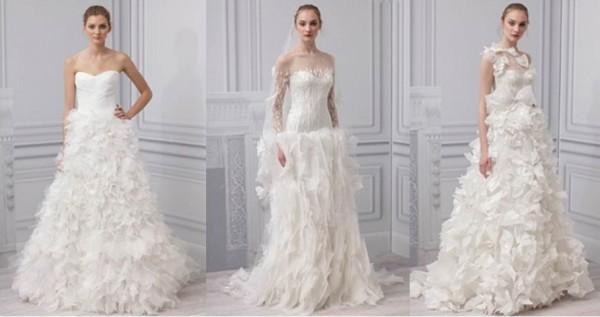 Monique lHuillier collezione abiti da sposa 2013-5