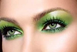 truccare gli occhi verdi