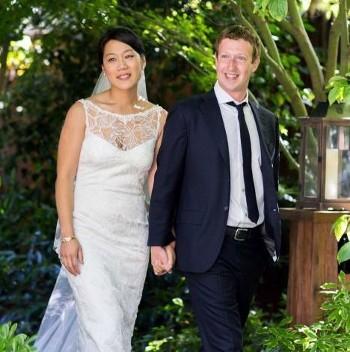 Abito da sposa Priscilla Chan tutto in pizzo