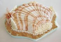 torta nuziale a forma di ostrica