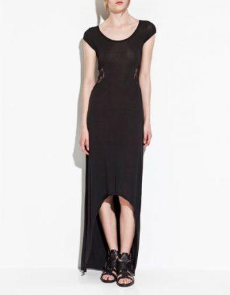 vestito lungo asimmetrico zara