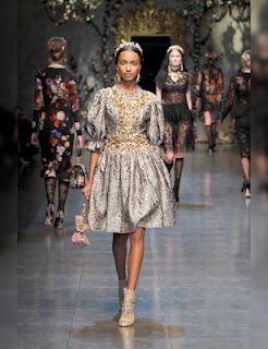Dolce-Gabbana-abito-argento