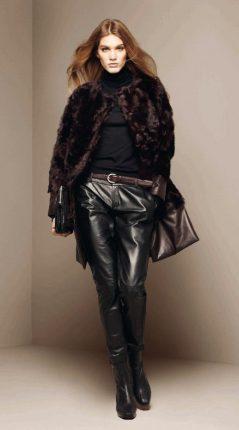 Pellicciotto-e-pantaloni-in-pelle-Stefanel-inverno-2012-2013
