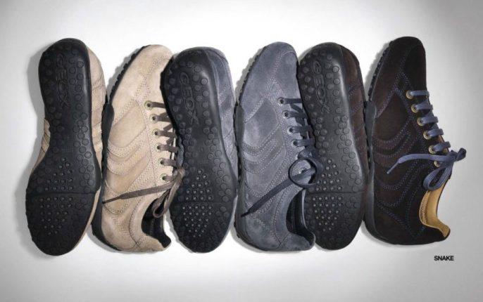 Sneakers In Camoscio Geox Uomo Inverno