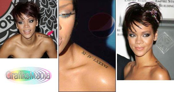 tatuagi-Rihanna-numero-romano