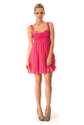 abiti-da-cerimonia-cocktail-corti-sexy-rosa