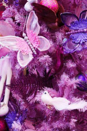 Albero Di Natale Con Addobbi Glamour