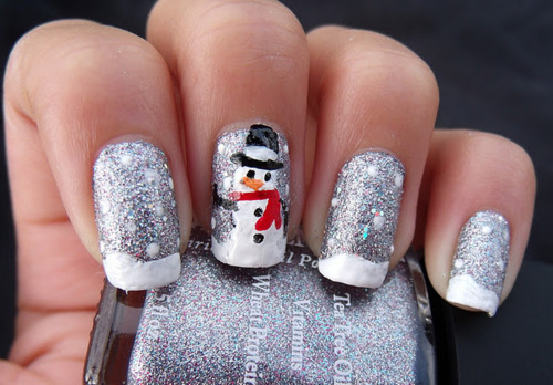 Nail Art Tutorial Natale 2012 4