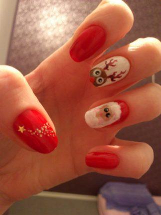 Unghie Nail Art Natale 2012 3