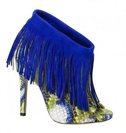 Ankle Boot Con Frange