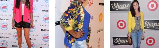 blaser colorati tendenze moda 2013
