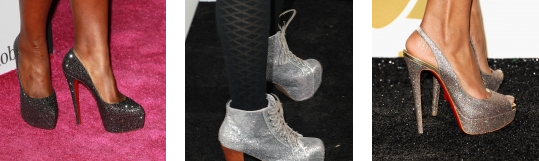 scarpe glitter tendenze moda 2013