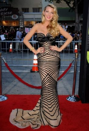 Blake Lively trend abito Beige
