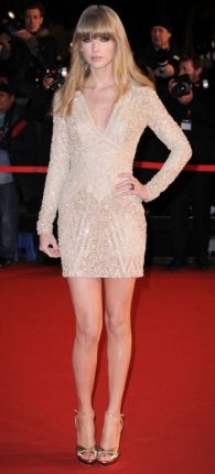 Taylor Swift trend minidress Beige