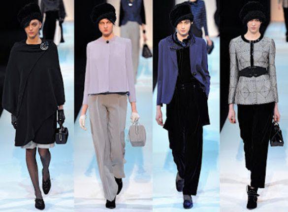 Giorgio Armani abbigliamento moda autunno inverno 2013 2014