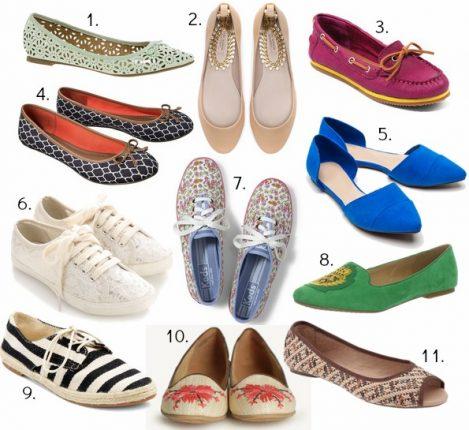 Scarpe ballerine e sneakers per estate
