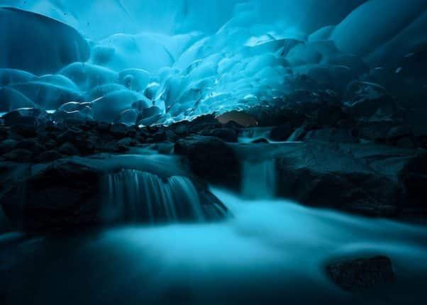 Ice Cave Mendenhall Juneau Alaska