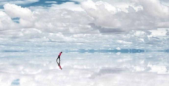 Salt Lake Salar De Uyuni Uno Dei Più Grandi Specchi Del Mondo Bolivia