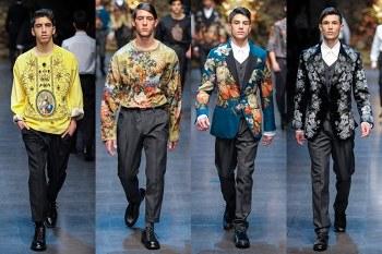 Uomo Dolce Gabbana collezione autunno inverno 2013 2014